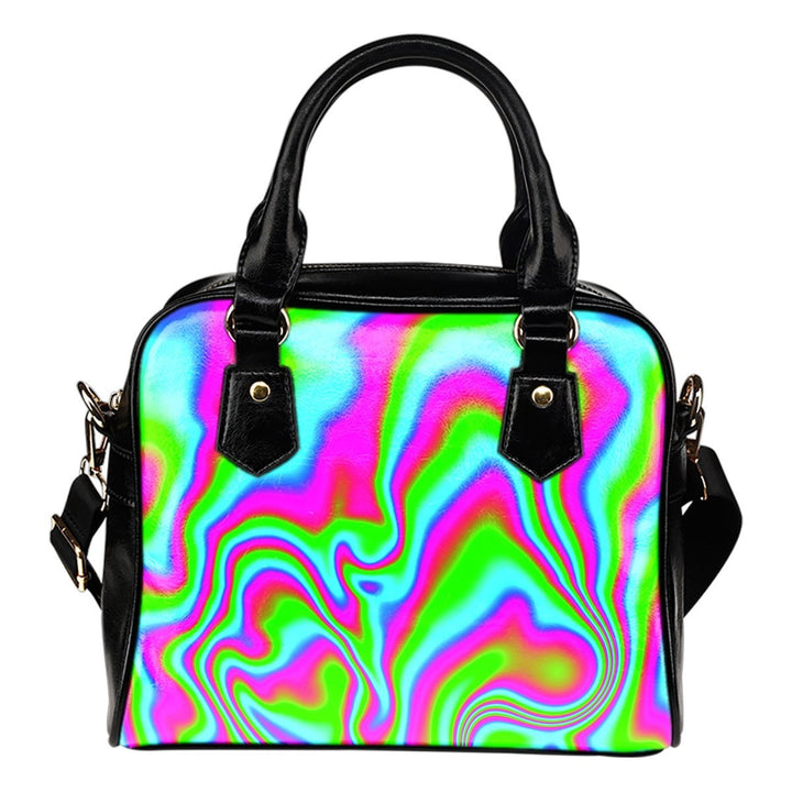 Abstract Psychedelic Trippy Print Shoulder Handbag GearFrost