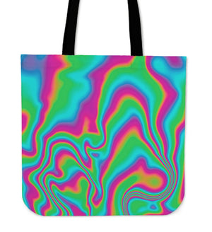Abstract Psychedelic Trippy Print Tote Bag GearFrost