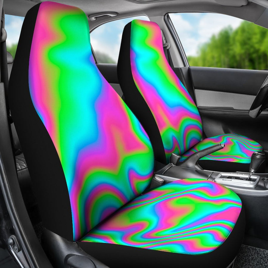 Abstract Psychedelic Trippy Print Universal Fit Car Seat Covers GearFrost