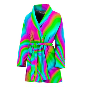 Abstract Psychedelic Trippy Print Women's Bathrobe GearFrost