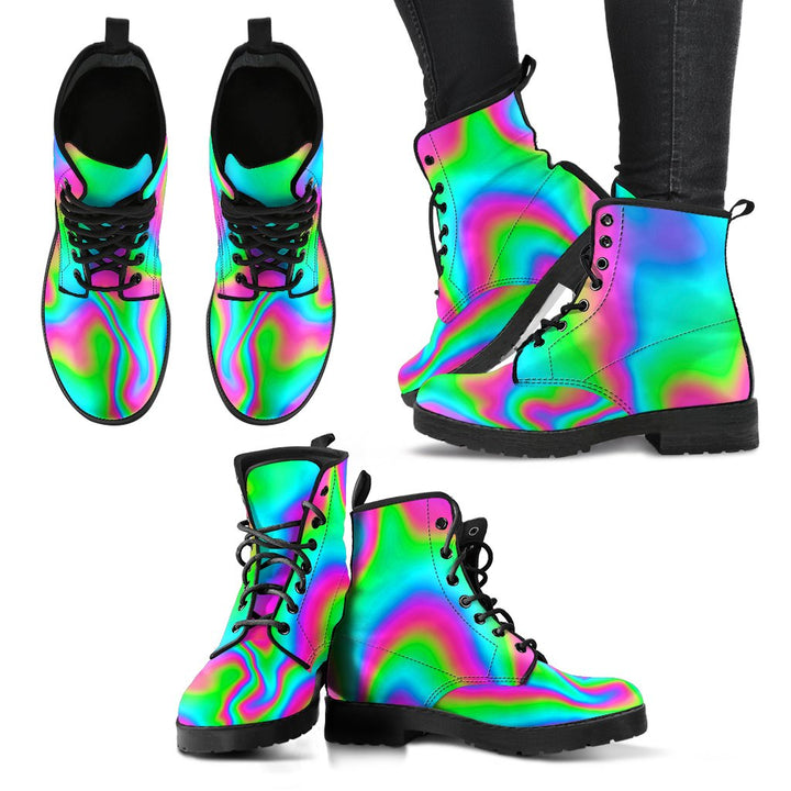 Abstract Psychedelic Trippy Print Women's Boots GearFrost