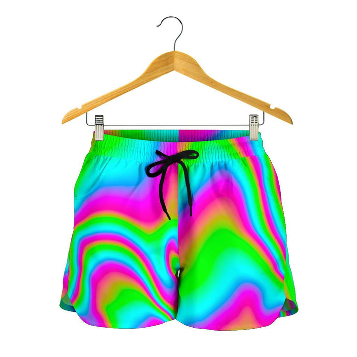 Abstract Psychedelic Trippy Print Women's Shorts GearFrost