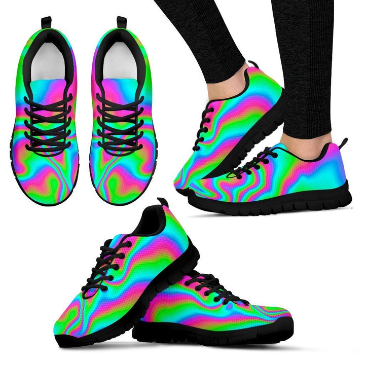 Abstract Psychedelic Trippy Print Women's Sneakers GearFrost