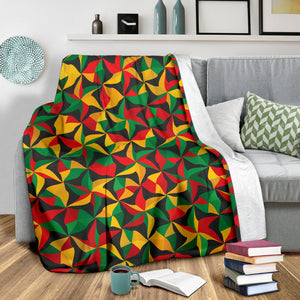 Abstract Reggae Pattern Print Blanket GearFrost