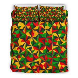 Abstract Reggae Pattern Print Duvet Cover Bedding Set GearFrost