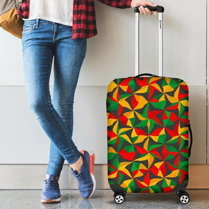 Abstract Reggae Pattern Print Luggage Cover GearFrost
