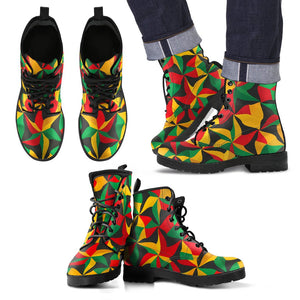Abstract Reggae Pattern Print Men's Boots GearFrost