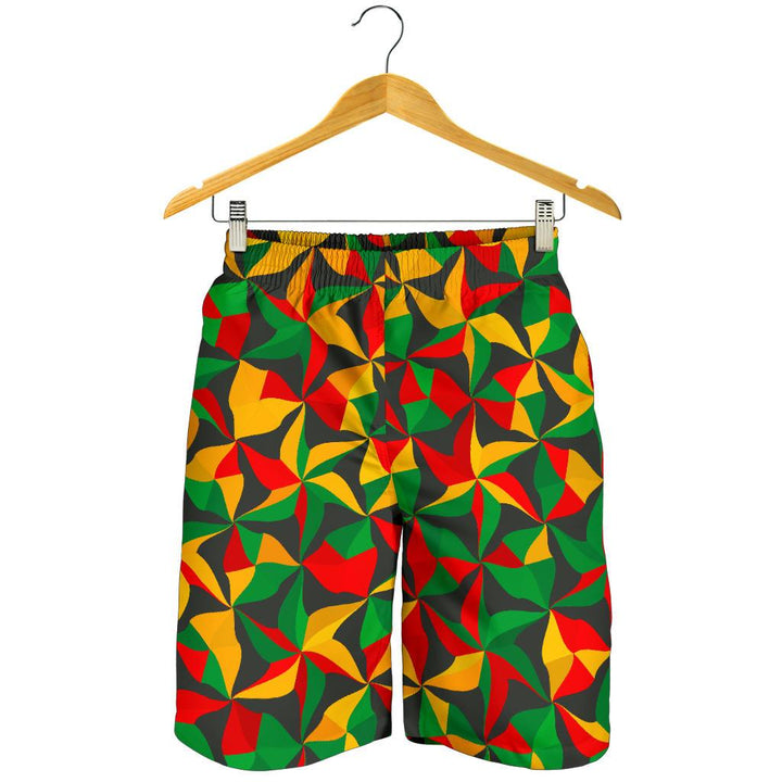 Abstract Reggae Pattern Print Men's Shorts GearFrost