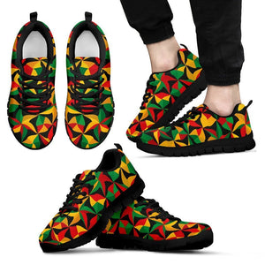 Abstract Reggae Pattern Print Men's Sneakers GearFrost