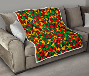 Abstract Reggae Pattern Print Quilt GearFrost