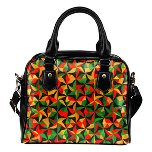 Abstract Reggae Pattern Print Shoulder Handbag GearFrost