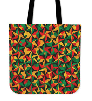 Abstract Reggae Pattern Print Tote Bag GearFrost