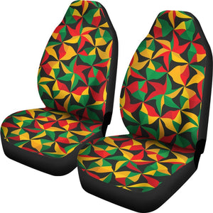 Abstract Reggae Pattern Print Universal Fit Car Seat Covers GearFrost