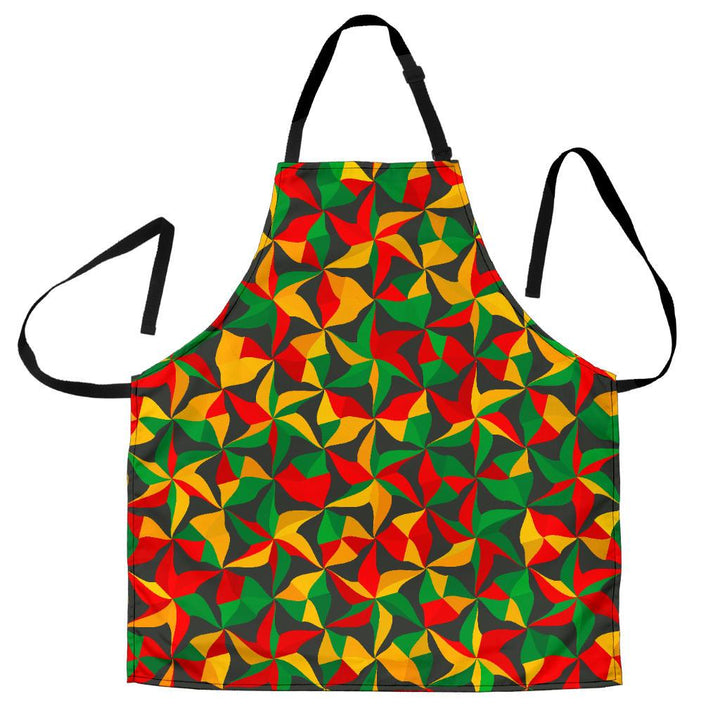 Abstract Reggae Pattern Print Women's Apron GearFrost