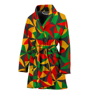 Abstract Reggae Pattern Print Women's Bathrobe GearFrost
