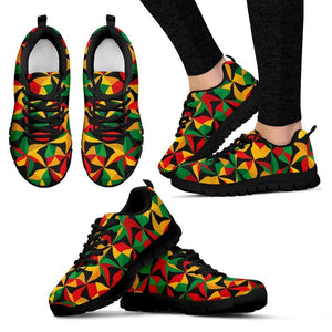 Abstract Reggae Pattern Print Women's Sneakers GearFrost