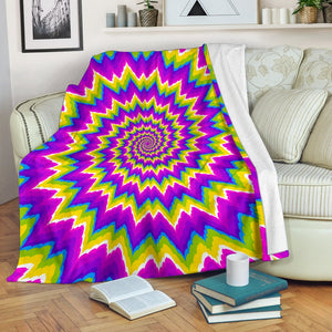 Abstract Spiral Moving Optical Illusion Blanket GearFrost