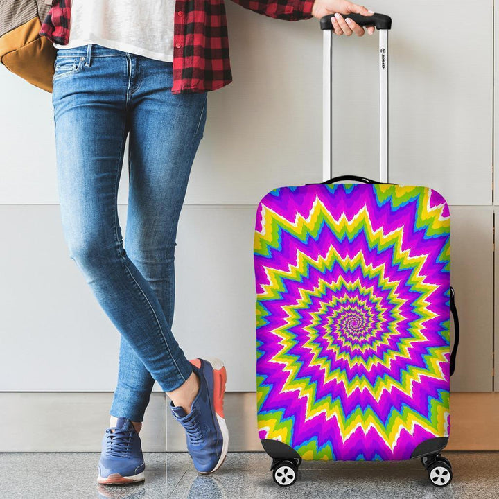 Abstract Spiral Moving Optical Illusion Luggage Cover GearFrost
