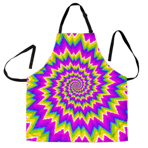 Abstract Spiral Moving Optical Illusion Men's Apron GearFrost