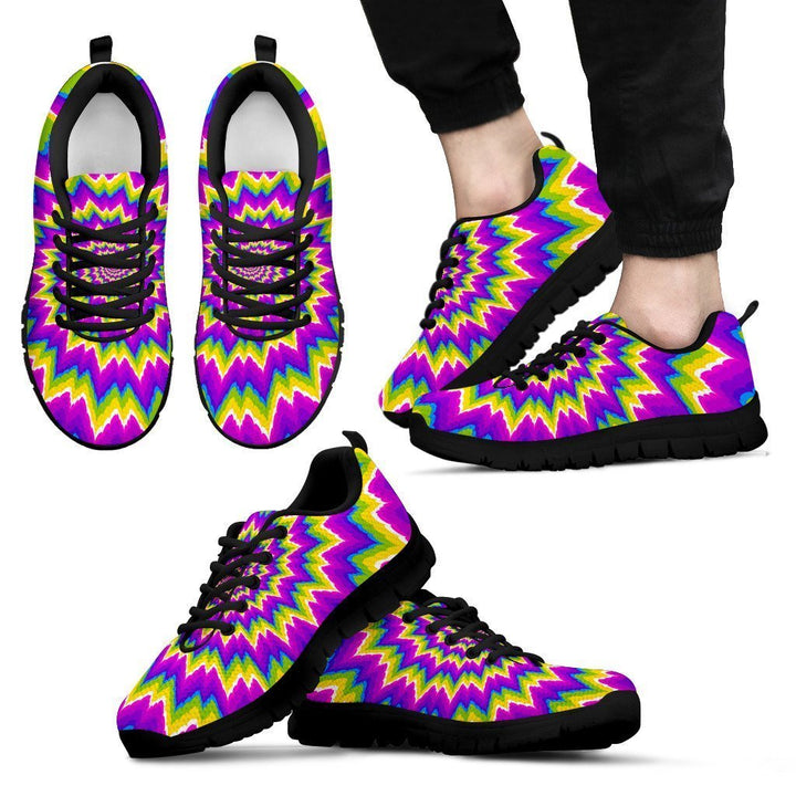 Abstract Spiral Moving Optical Illusion Men's Sneakers GearFrost