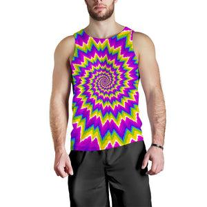 Abstract Spiral Moving Optical Illusion Men's Tank Top GearFrost