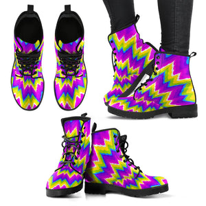 Abstract Spiral Moving Optical Illusion Women's Boots GearFrost