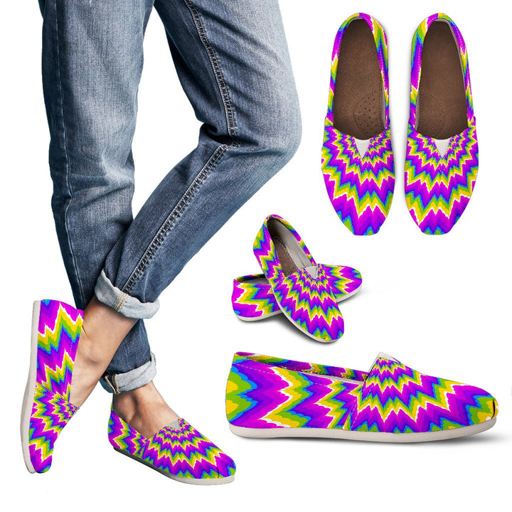 Abstract Spiral Moving Optical Illusion Women's Casual Shoes GearFrost