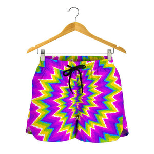 Abstract Spiral Moving Optical Illusion Women's Shorts GearFrost