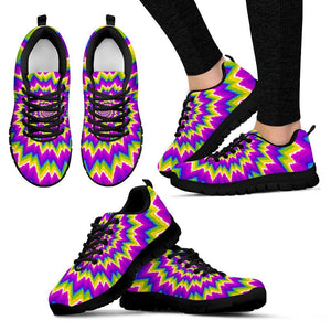Abstract Spiral Moving Optical Illusion Women's Sneakers GearFrost