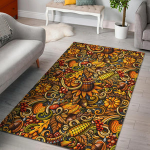 Abstract Sunflower Pattern Print Area Rug GearFrost