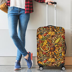 Abstract Sunflower Pattern Print Luggage Cover GearFrost