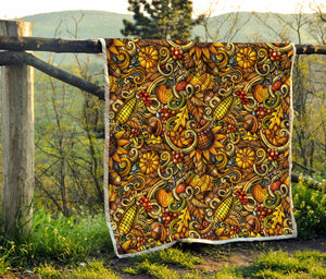 Abstract Sunflower Pattern Print Quilt GearFrost