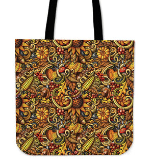 Abstract Sunflower Pattern Print Tote Bag GearFrost