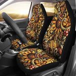 Abstract Sunflower Pattern Print Universal Fit Car Seat Covers GearFrost