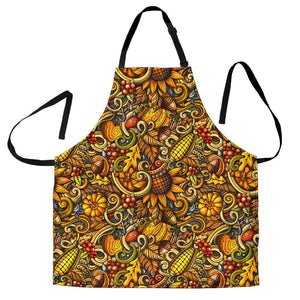 Abstract Sunflower Pattern Print Women's Apron GearFrost