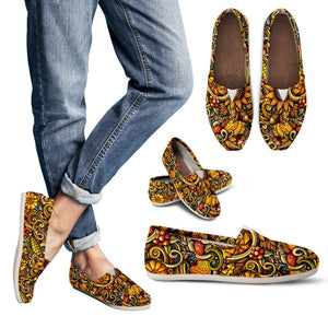 Abstract Sunflower Pattern Print Women's Casual Shoes GearFrost