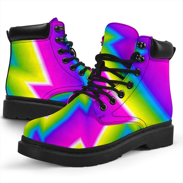 Abstract Twisted Moving Optical Illusion All Season Boots GearFrost