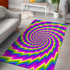 Abstract Twisted Moving Optical Illusion Area Rug GearFrost