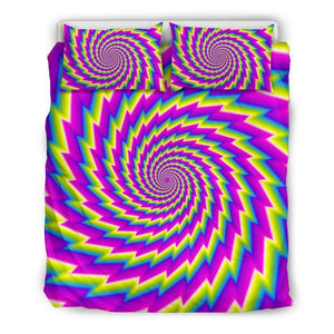 Abstract Twisted Moving Optical Illusion Duvet Cover Bedding Set GearFrost