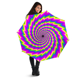 Abstract Twisted Moving Optical Illusion Foldable Umbrella GearFrost