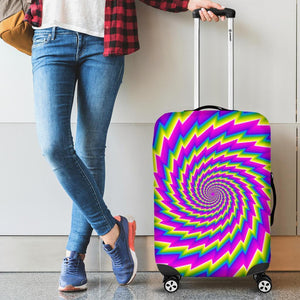 Abstract Twisted Moving Optical Illusion Luggage Cover GearFrost