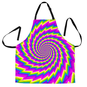 Abstract Twisted Moving Optical Illusion Men's Apron GearFrost