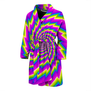Abstract Twisted Moving Optical Illusion Men's Bathrobe GearFrost