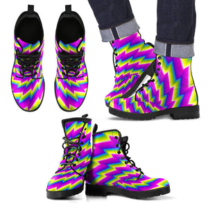 Abstract Twisted Moving Optical Illusion Men's Boots GearFrost
