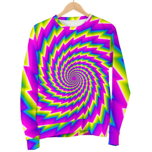 Abstract Twisted Moving Optical Illusion Men's Crewneck Sweatshirt GearFrost