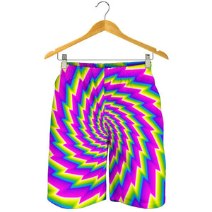 Abstract Twisted Moving Optical Illusion Men's Shorts GearFrost