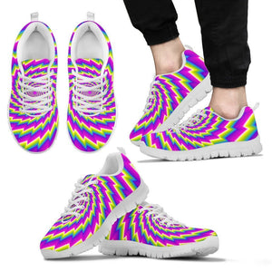 Abstract Twisted Moving Optical Illusion Men's Sneakers GearFrost