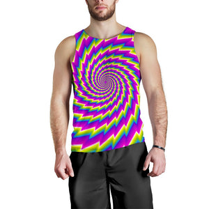 Abstract Twisted Moving Optical Illusion Men's Tank Top GearFrost