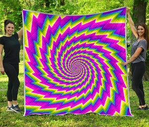 Abstract Twisted Moving Optical Illusion Quilt GearFrost