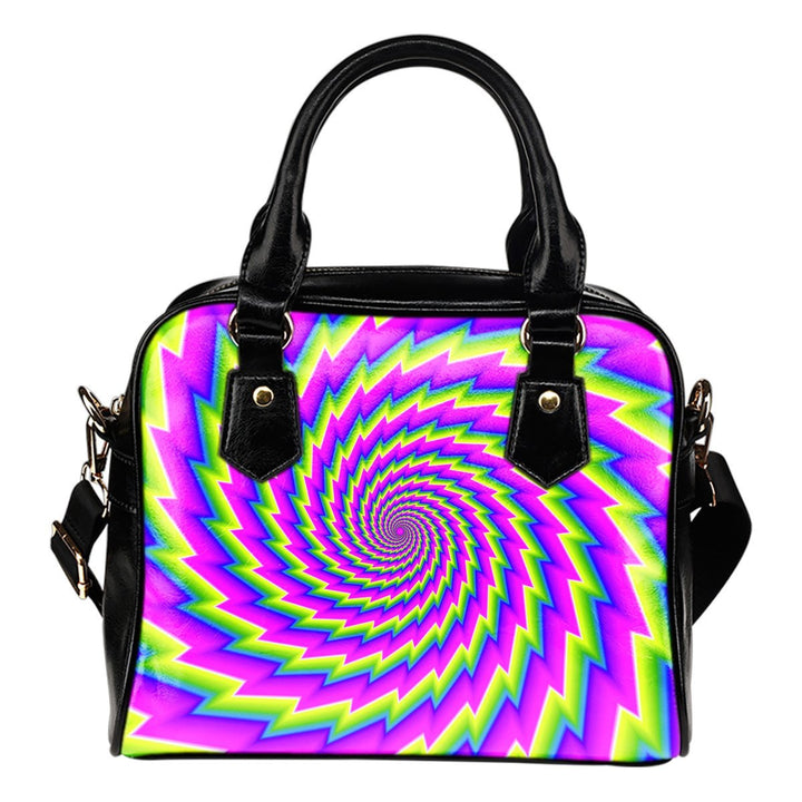 Abstract Twisted Moving Optical Illusion Shoulder Handbag GearFrost